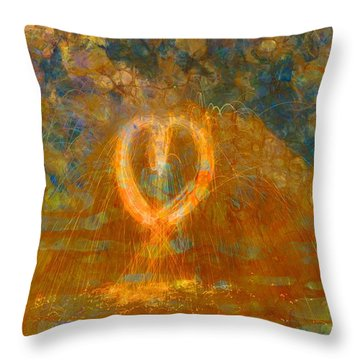 Burning Heart Throw Pillows