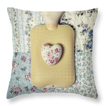Hearty Hot-water Bottle Throw Pillow by Joana Kruse
