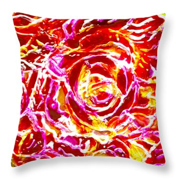 Heat Throw Pillow by Hatin Josee