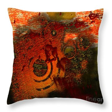 Throw Pillow featuring the digital art Heat Of Battle by Clayton Bruster