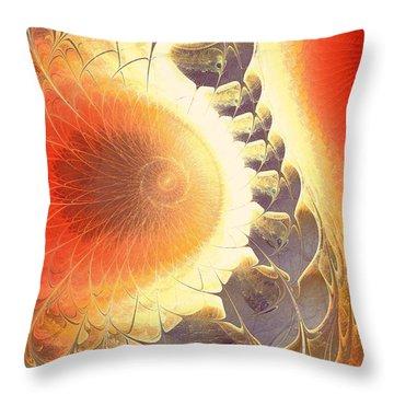 Heat Shield Throw Pillow by Anastasiya Malakhova