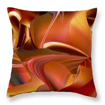 Throw Pillow featuring the digital art Heat Within by rd Erickson