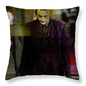 Heath Ledger Throw Pillow