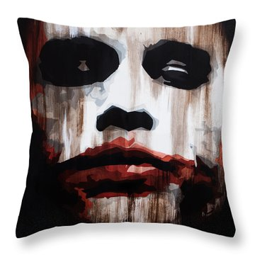 Heath Ledger Why So Serious Throw Pillow by Brad Jensen