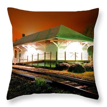 Heath Springs Depot Throw Pillow