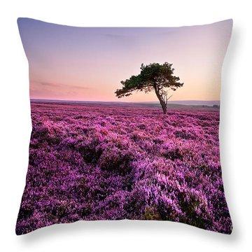 Heather At Sunset Throw Pillow