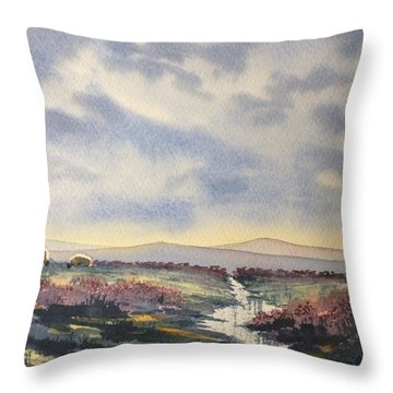 Heather On The Road To Fairy Plain  Throw Pillow