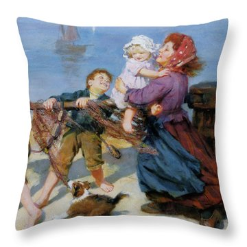 Heave Ho Throw Pillow by Arthur John Elsley