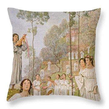 Heaven Throw Pillow by Hans Thoma