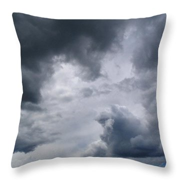 Heaven Looks Angry Throw Pillow