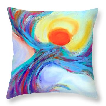Heaven Sent Digital Art Painting Throw Pillow