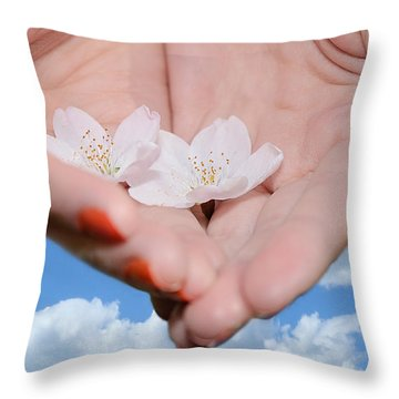 Heavenly Blossoms Throw Pillow by Lisa Knechtel