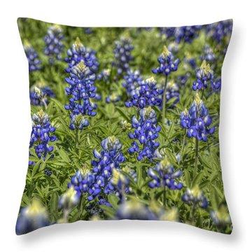 Heavenly Bluebonnets Throw Pillow