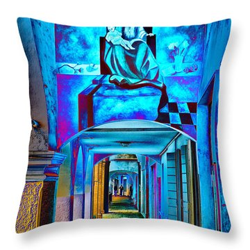 Heavenly Blues Throw Pillow by William Beuther