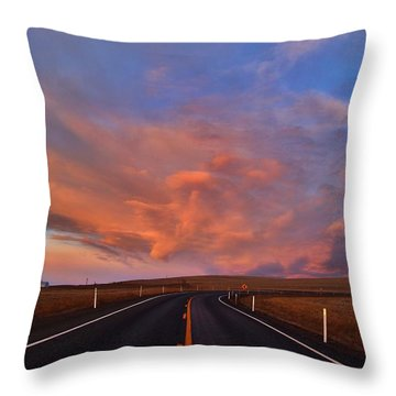 Throw Pillow featuring the photograph Heavenly Clouds by Lynn Hopwood