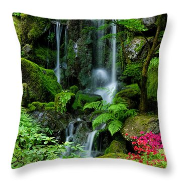 Heavenly Falls Serenity Throw Pillow by Don Schwartz