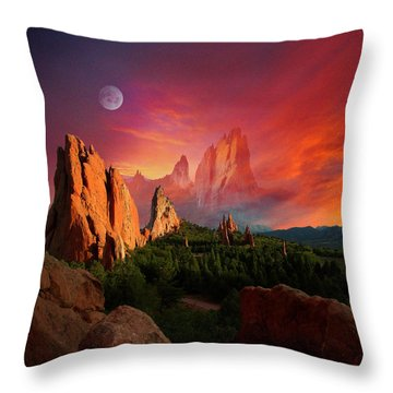 Heavenly Garden Throw Pillow