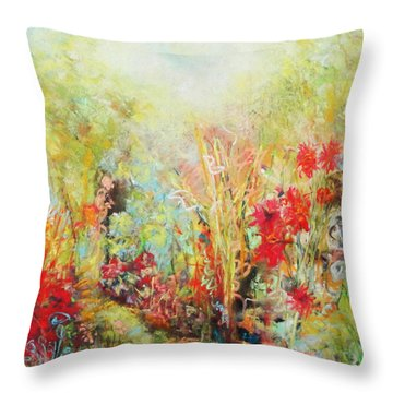Heavenly Garden Throw Pillow