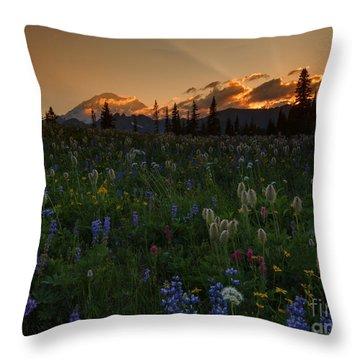 Heavenly Garden Throw Pillow by Mike  Dawson