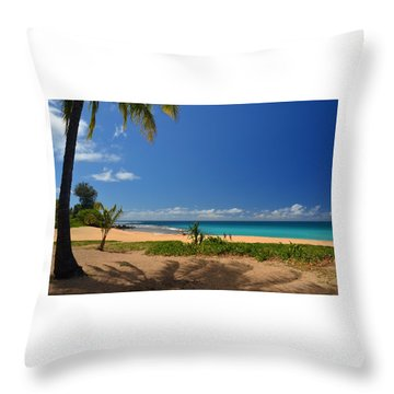 Heavenly Haena Beach Throw Pillow