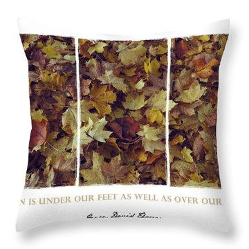 Throw Pillow featuring the photograph Heavenly Leaves Triptych by Patricia Strand