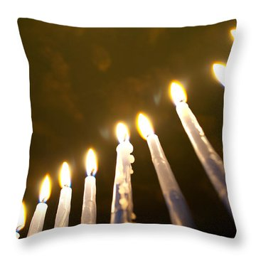 Heavenly Lights Throw Pillow