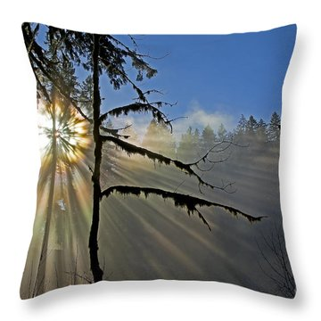 Heavenly Manifestation Throw Pillow by Nick  Boren