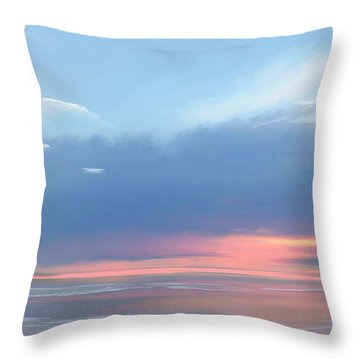 Throw Pillow featuring the digital art Heavenly Morning by Anthony Fishburne