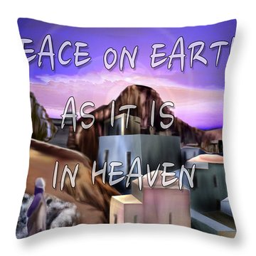 Heavenly Peace On Earth  Throw Pillow by Reggie Duffie