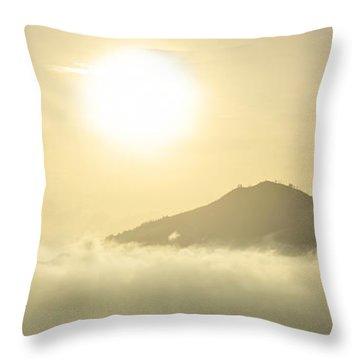 Heavenly Peaks Throw Pillow by Sebastien Coursol