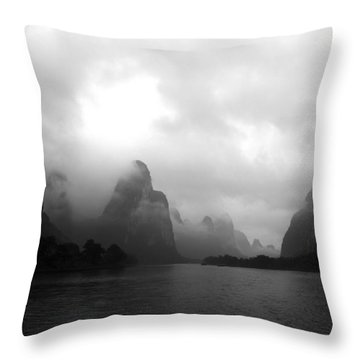 Heavenly Place Throw Pillow by Yue Wang