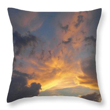 Heavenly Sky Throw Pillow by Bill Woodstock