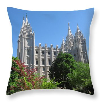 Heavenly Spires Throw Pillow