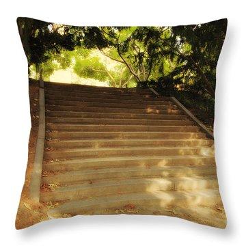 Heavenly Stairway Throw Pillow by Madeline Ellis