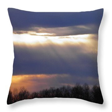 Heavenly Sunset Throw Pillow by Nick Kirby