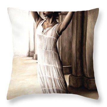 Heaven's Angel Throw Pillow by Richard Young