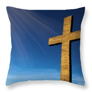 Heaven's Cross Throw Pillow