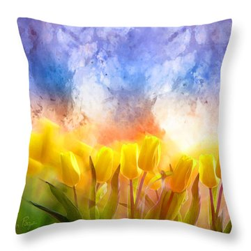 Heaven's Garden Throw Pillow
