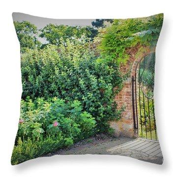 Heaven's Gate Throw Pillow by Katy Mei