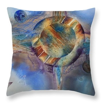 Heavens Gate Throw Pillow by Tara Moorman