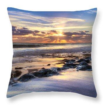 Heaven's Lights Throw Pillow by Debra and Dave Vanderlaan