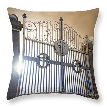 Heavens Open Gates Throw Pillow