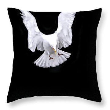 Heavens Rain Throw Pillow