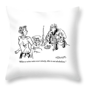 Heavy-drinking Man Speaks To Woman Who Is Walking Throw Pillow