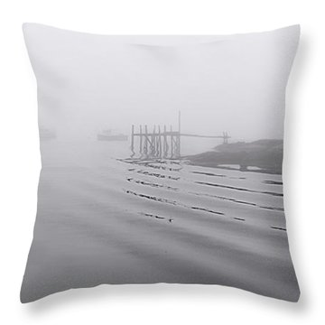 Heavy Fog And Gentle Ripples Throw Pillow