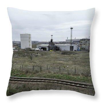 Manufacturing Plant Throw Pillows