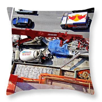 Heavy Lifting Pumper Throw Pillow by Steve Sahm