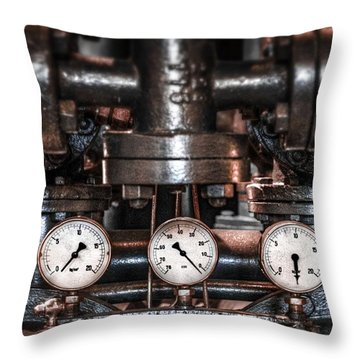 Heavy Machinery Throw Pillow