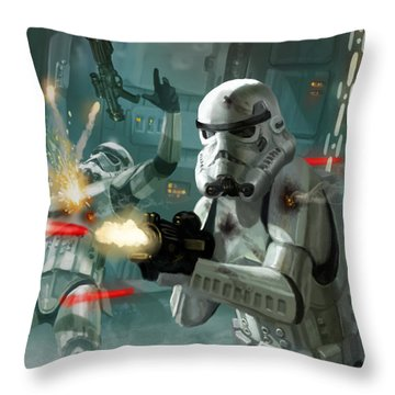 Heavy Storm Trooper - Star Wars The Card Game Throw Pillow