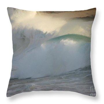 Heavy Surf At Carmel River Beach Throw Pillow